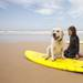 Surfer with dog